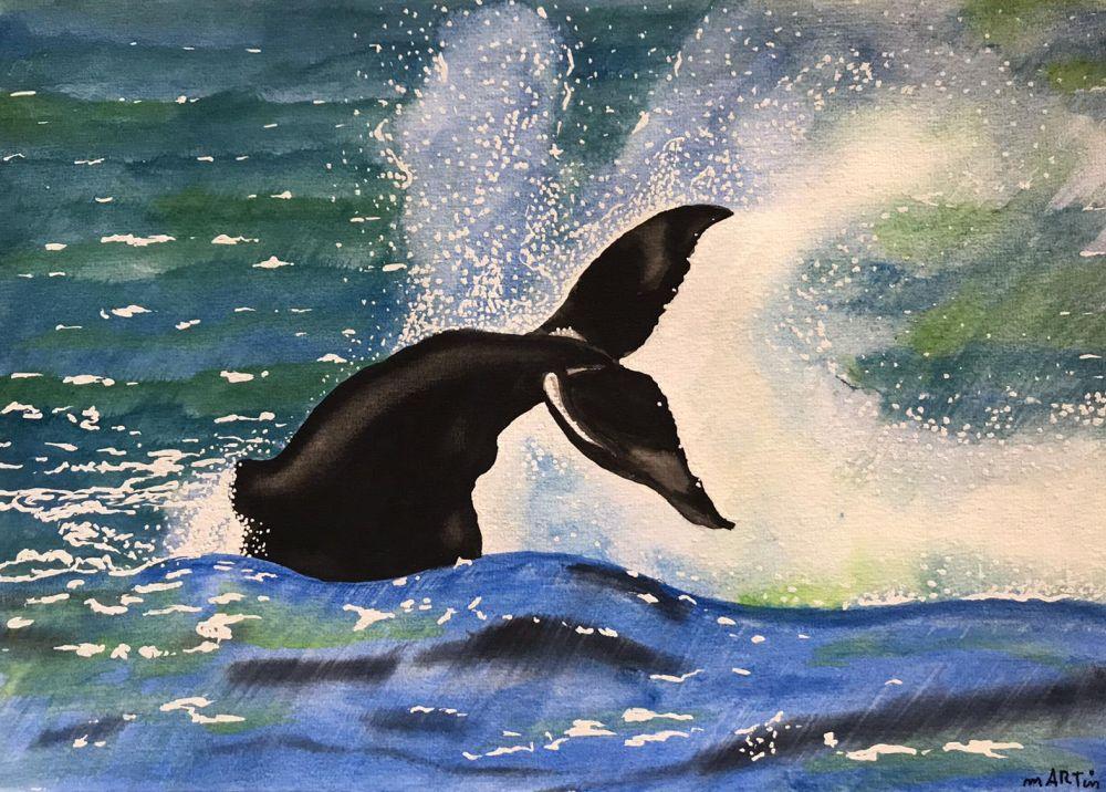 Wal beim Tauchen
