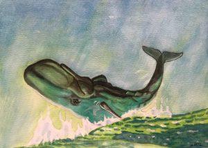 Wal beim Springen